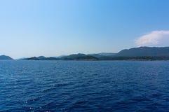 Sea and sky in Turkey Royalty Free Stock Photo