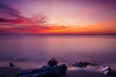 Sea and sky in Twilight time Royalty Free Stock Image