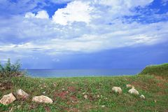 Sea Sky View Landscape from Top Bulgaria Stock Photo Colorful stock image