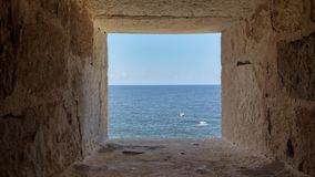 Sea, Sky, Wall, Window stock images
