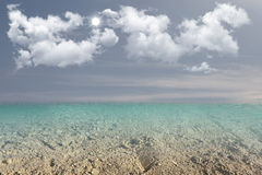 Sea Sky Water. Background bay beauty bright cloud color day in is landscape maximum royalty free illustration