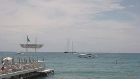 Sea, sky and yachts. stock video
