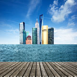Sea skyscrapers Royalty Free Stock Photo