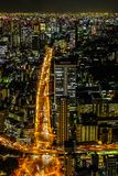 Tokyo skyline from Tokyo Tower royalty free stock photography