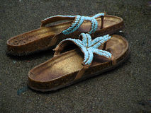 Sea slippers Stock Photos