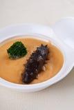 Sea slug and delicious broccoli Royalty Free Stock Photo
