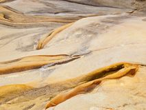Sea smoothed rock Royalty Free Stock Image
