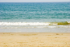 Sea with soft wave. Blue sea with soft wave,taken in Xichong of Shenzhen city Stock Photography