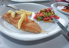 Sea sole fried fish Royalty Free Stock Photo