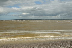 Sea in Somme bay. Le Hourdel in Picardie region of France stock images