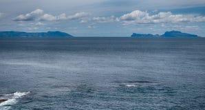 The sea between the Sorrento peninsula and the island of Capri. Seen from Naples. Italy Royalty Free Stock Photos