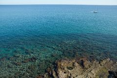 Sea in the south of France, close to Leucate Stock Photos