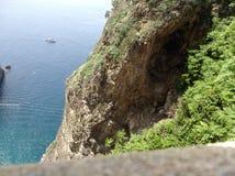 Sea of southern Italy on the Amalfi coast royalty free stock photos