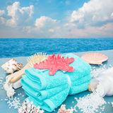 Sea spa setting by seaside Stock Photo