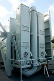 Sea-Sparrow missile tubes. Sea-Sparrow missile launch tubes aboard naval warship Stock Photography