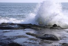 Sea splash Stock Photography