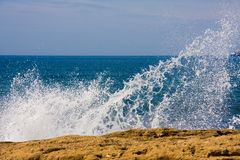 Sea spray Stock Image