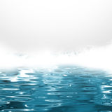 Sea spray - abstract blue water background Stock Photos