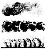 Sea spray. brush stroke illustrations. Set of brush stroke illustrations. hand drawn shapes Royalty Free Stock Photos