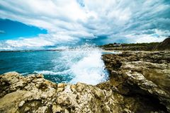 Sea spray royalty free stock photography