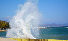 Sea spray Royalty Free Stock Photo
