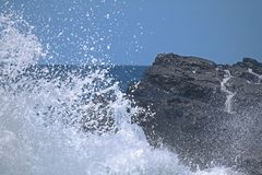 SEA SPRAY UP CLOSE Stock Photo