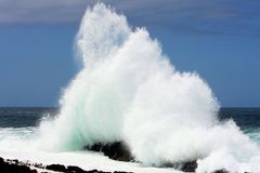 Sea Spray Wave Royalty Free Stock Photos