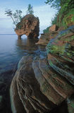 Sea Stack Apostle Islands. Sea Stack and rocky shoreline, Lake Superior, Apostle Islands National Lakeshore, Wisconsin, USA Royalty Free Stock Photo