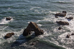 Sea Stack Off Coast of Northern California Royalty Free Stock Photos