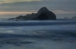 Sea Stack, Pfeiffer Beach. Pfeiffer Beach, Big Sur,  Monterey County, California Stock Image