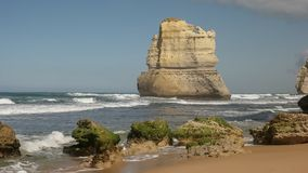 Sea stack from gibsons steps at the twelve apostles, victoria. Sea stack viewed from gibson`s steps beach at the twelve apostle on the great ocean road, victoria stock photography
