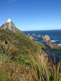 Sea stacks. In New Zealand stock images