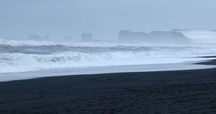 Sea stacks, Vik, Iceland Stock Photos