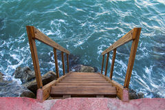 Sea and Stairs Royalty Free Stock Images