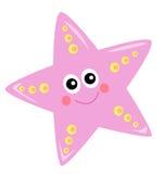 Sea star. Illustration colororata of a sea star Stock Images