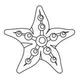 Sea star icon, outline style Stock Photos
