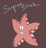 Sea star vector illustration Royalty Free Stock Photo