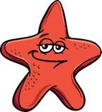 Sea starfish cartoon illustration Royalty Free Stock Photos