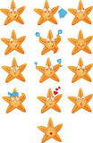 Sea stars icons set Royalty Free Stock Images