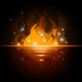 Sea Stars Indicates Fire Blazing And Flaming. Sea Fire Showing Water Flaming And Raging Stock Photos