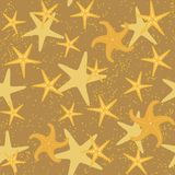 Sea stars seamless pattern Royalty Free Stock Image