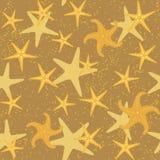 Sea stars seamless pattern Royalty Free Stock Image