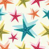 Sea stars. Vector background. Stock Image