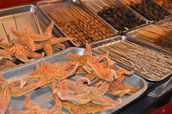 Sea stars on Wangfujing market Royalty Free Stock Image