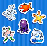 Sea Stickers Royalty Free Stock Photos