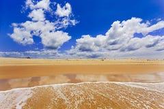 Sea Stockton Beach wave dune sky Stock Photo