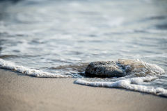 Sea stone beach Royalty Free Stock Photo