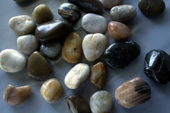 Sea stone & rocks. On gray stock photography
