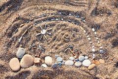 Sea stones background Stock Photography