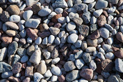 Sea stones background. Close up Royalty Free Stock Photos